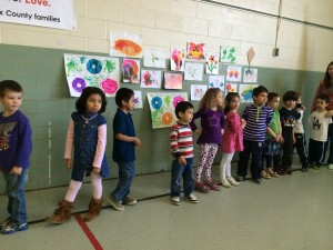Main Street CDC's VPI class sings to rally support for early learning