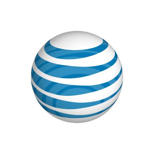att globe logo on white background