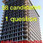 58 candidates, 1 question