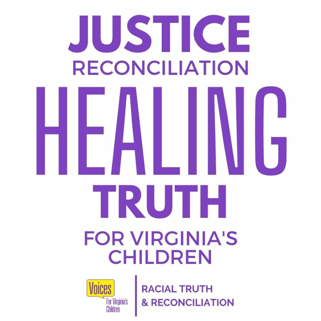 justice, reconciliation, healing, truth graphic
